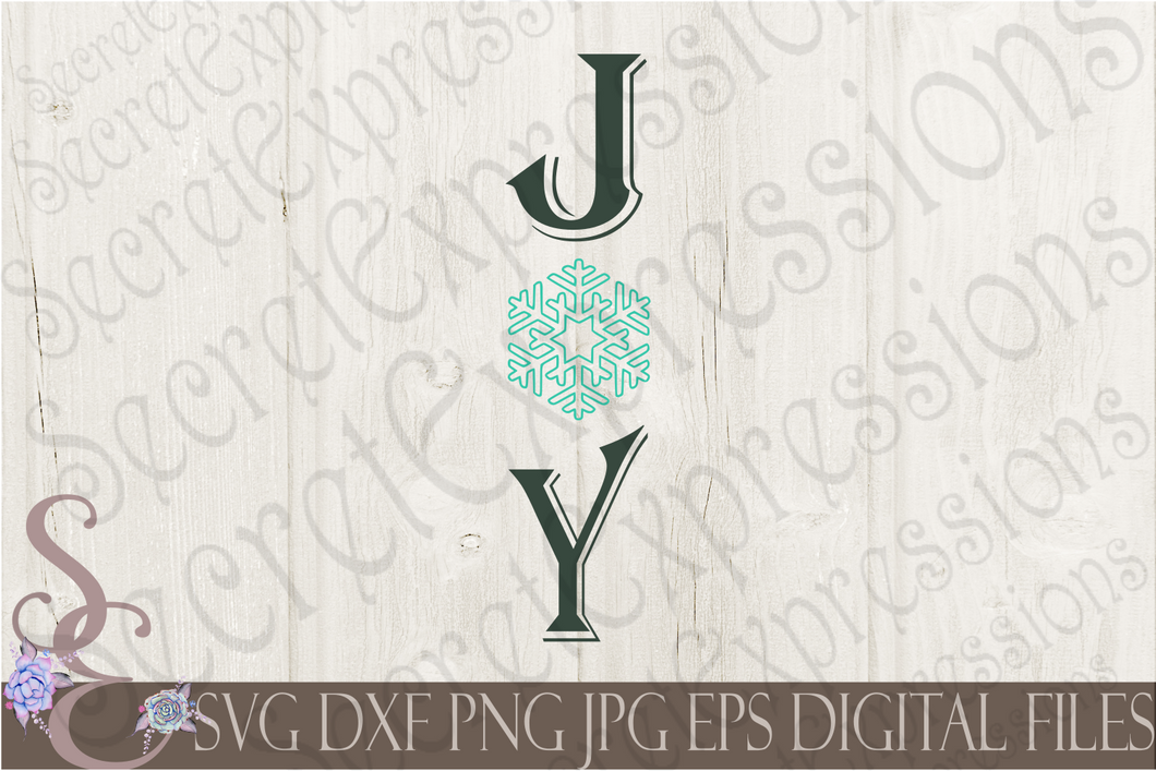 Joy Svg, Christmas Digital File, SVG, DXF, EPS, Png, Jpg, Cricut, Silhouette, Print File