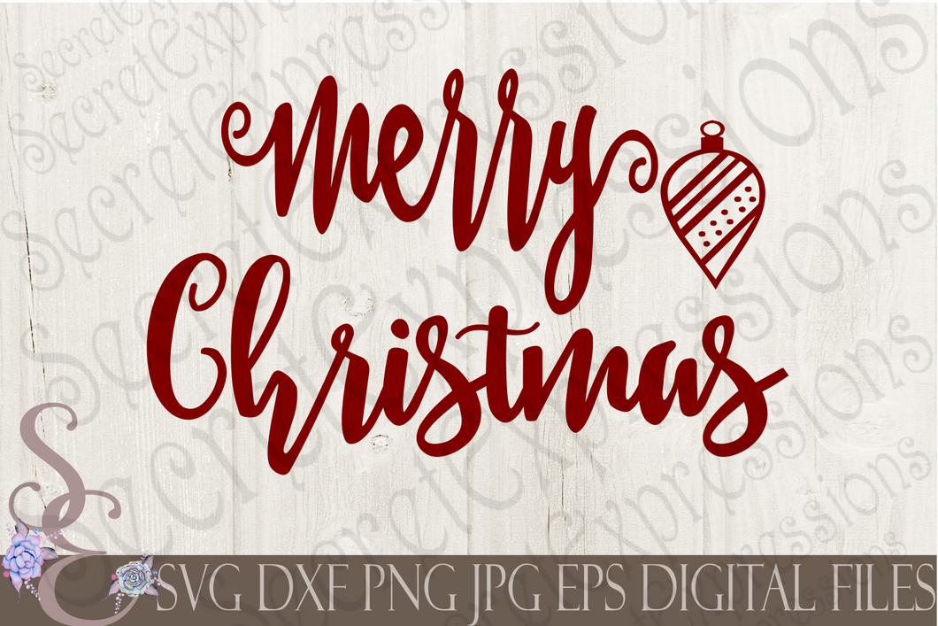 Merry Christmas Svg, Christmas Digital File, SVG, DXF, EPS, Png, Jpg, Cricut, Silhouette, Print File