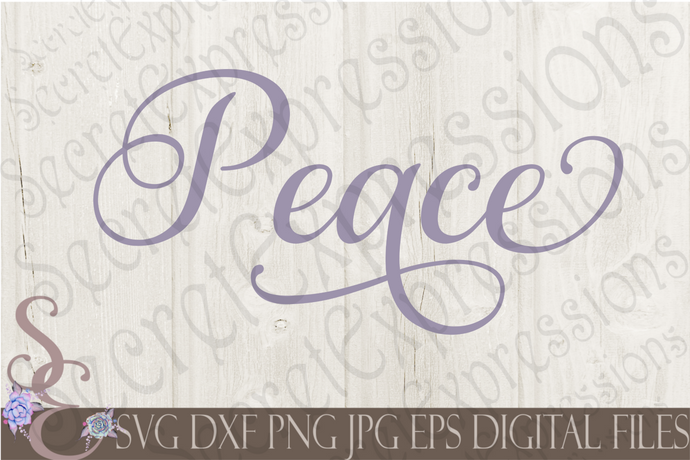 Peace Svg, Digital File, SVG, DXF, EPS, Png, Jpg, Cricut, Silhouette, Print File