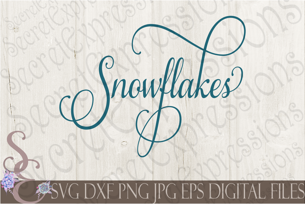 Snowflakes Svg, Christmas Digital File, SVG, DXF, EPS, Png, Jpg, Cricut, Silhouette, Print File