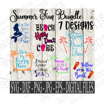 Summer Fun SVG Bundle, Digital File, SVG, DXF, EPS, Png, Jpg, Cricut, Silhouette, Print File