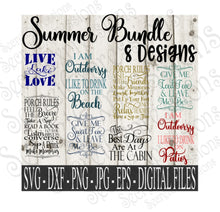 Summer SVG Bundle, Digital File, SVG, DXF, EPS, Png, Jpg, Cricut, Silhouette, Print File