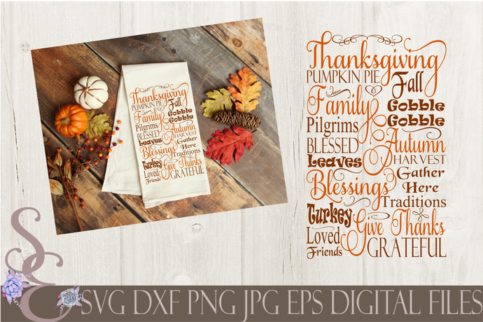 Thanksgiving Subway Svg, Digital File, SVG, DXF, EPS, Png, Jpg, Cricut, Silhouette, Print File