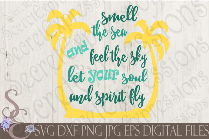 Let your soul and spirit fly Svg, Digital File, SVG, DXF, EPS, Png, Jpg, Cricut, Silhouette, Print File
