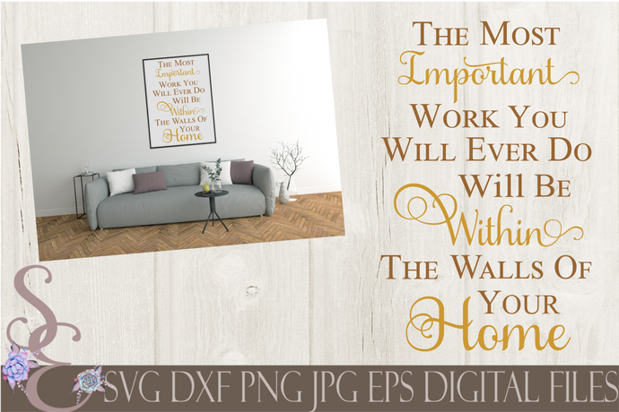 Within The Walls Of Your Home Svg, Digital File, SVG, DXF, EPS, Png, Jpg, Cricut, Silhouette, Print File