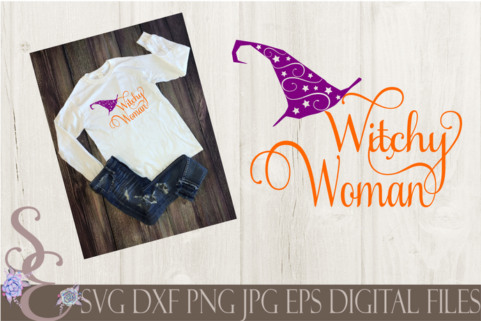 Witchy Woman SVG, Digital File, SVG, DXF, EPS, Png, Jpg, Cricut, Silhouette, Print File