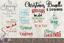 Christmas SVG Bundle, 8 Digital File, SVG, DXF, EPS, Png, Jpg, Cricut, Silhouette, Print File