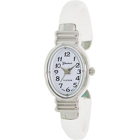 Geneva Platinum Women's 7274.Silver.White White Metal Quartz Watch with White Dial - Wrist Stylist