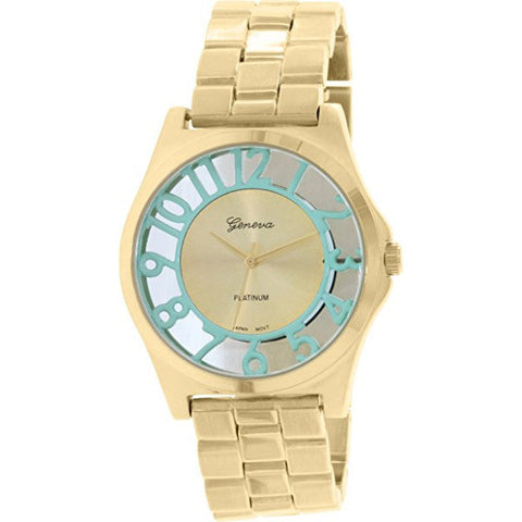 Geneva Platinum Women's 9446.GOLD.MINT Gold Metal Quartz Watch - Wrist Stylist