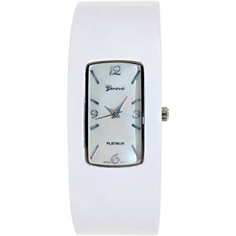 Geneva Platinum Women's 8268.WHITE.WHITE White Plastic Quartz Watch - Wrist Stylist