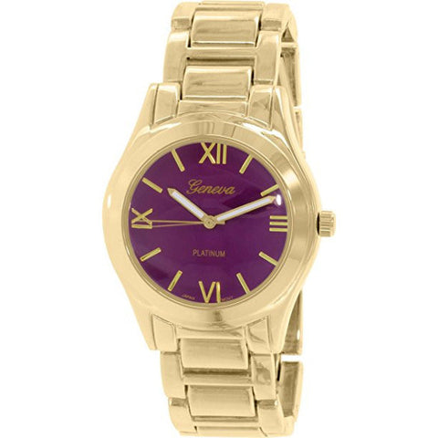 Geneva Platinum Women's 4894.GOLD.PURPLE Gold Metal Quartz Watch - Wrist Stylist