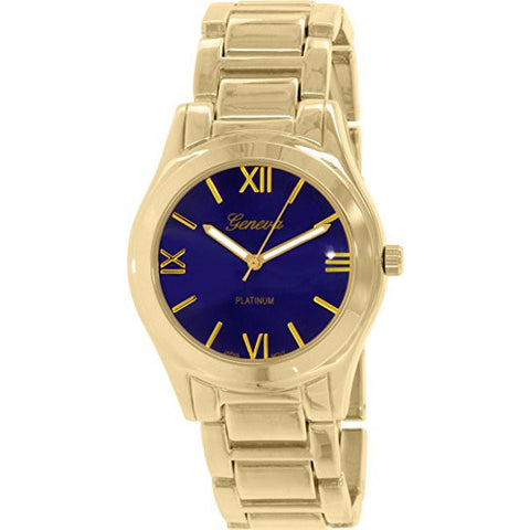 Geneva Platinum Women's 4894.GOLD.BLUE Gold Metal Quartz Watch - Wrist Stylist
