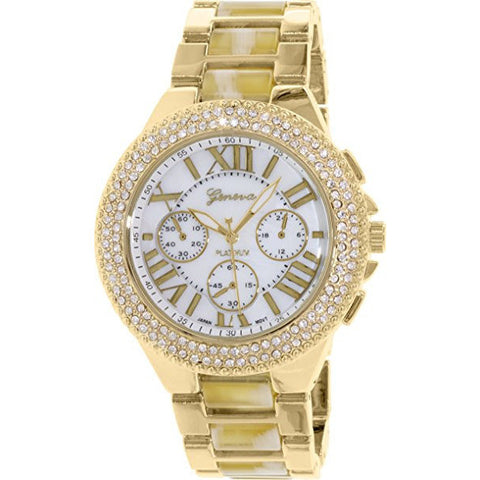 Geneva Platinum Women's 9424.BONE.GOLD Gold Metal Quartz Watch - Wrist Stylist