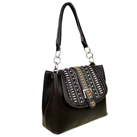 Silver & Crystal Studded Concealed Carry Tote Bag Montana West - Wrist Stylist