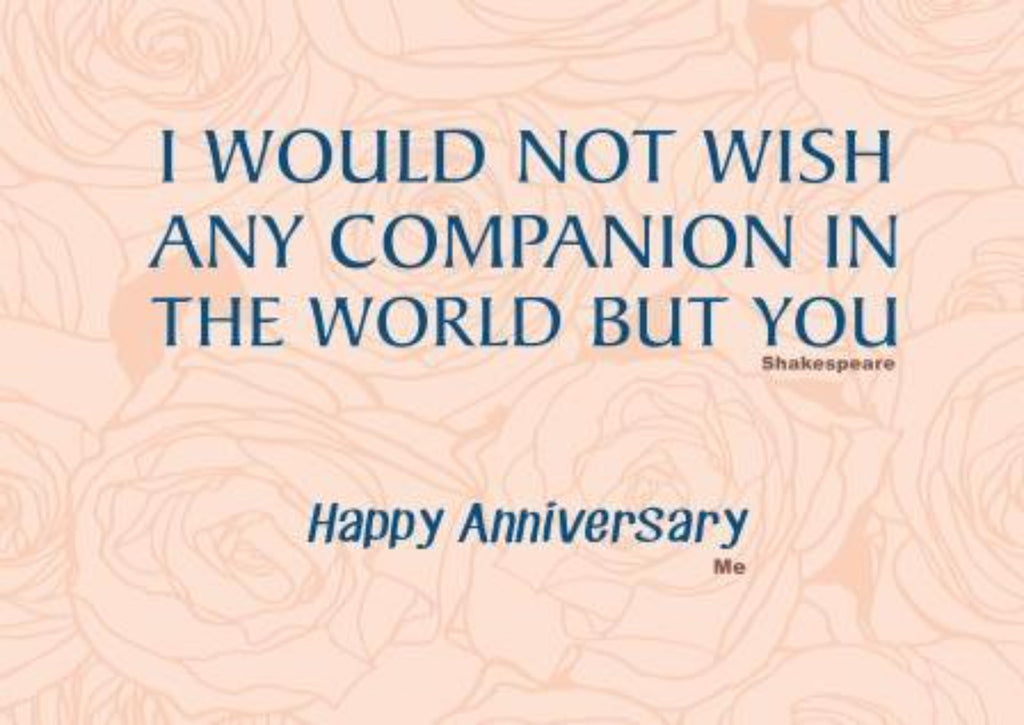 My Chosen Companion - Love And Romance - Anniversary Greeting Card - CardCraft