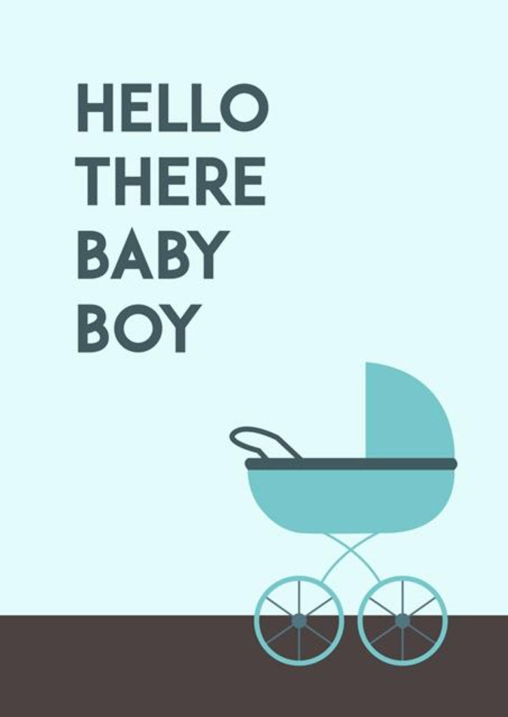Hello there baby boy! New Baby Congratulations Greeting Card - CardCraft