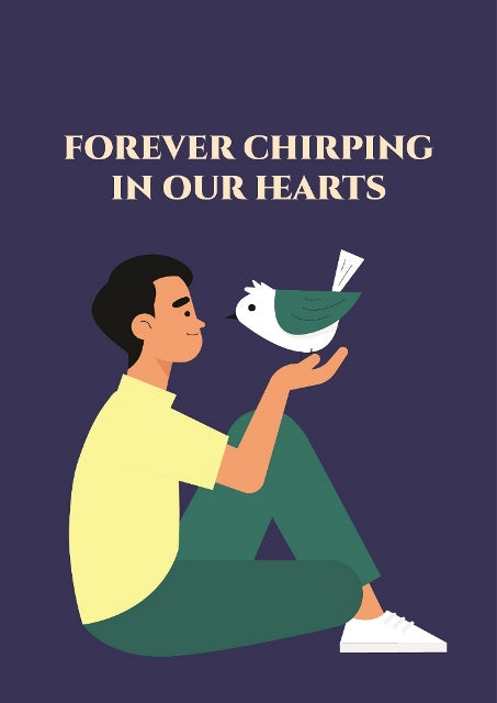Forever Chirping in Our Hearts Card - Pet Sympathy Greeting Card - CardCraft