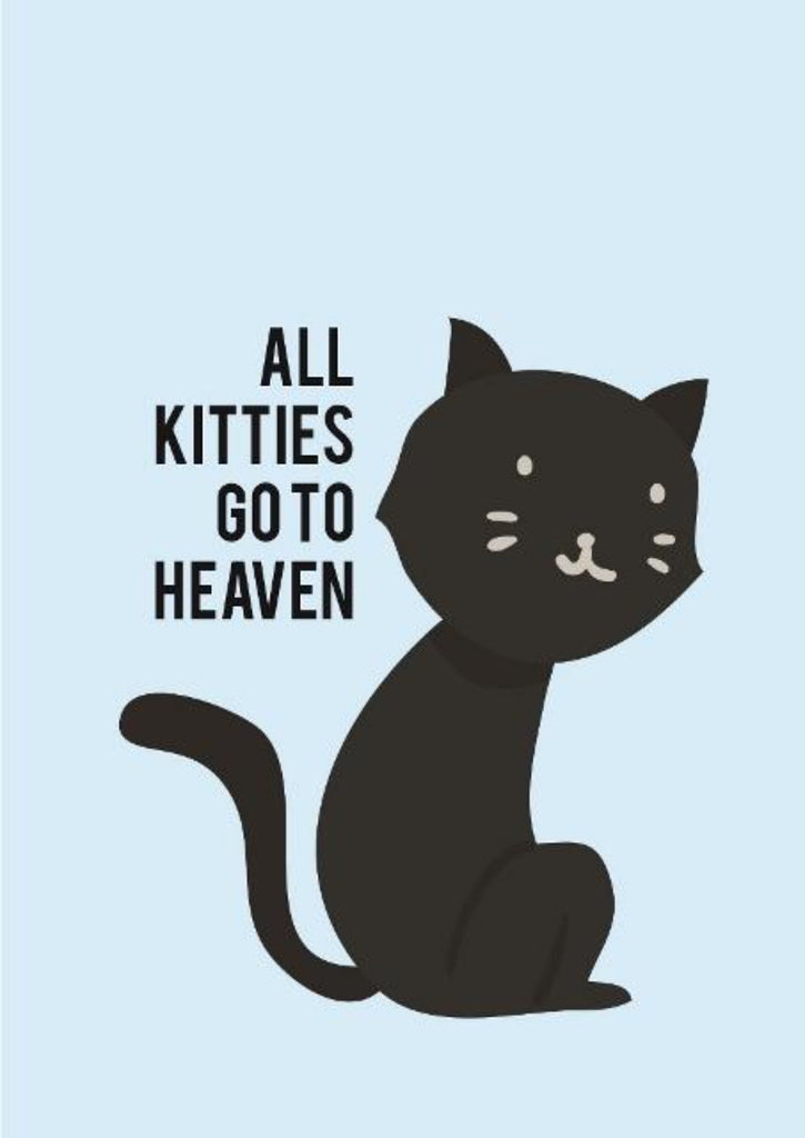All Kitties Go to Heaven - Pet Sympathy Greeting Card - CardCraft