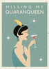 Missing my QUARANQUEEN - 1920's style Quarantine Themed Thinking Of You Card - CardCraft