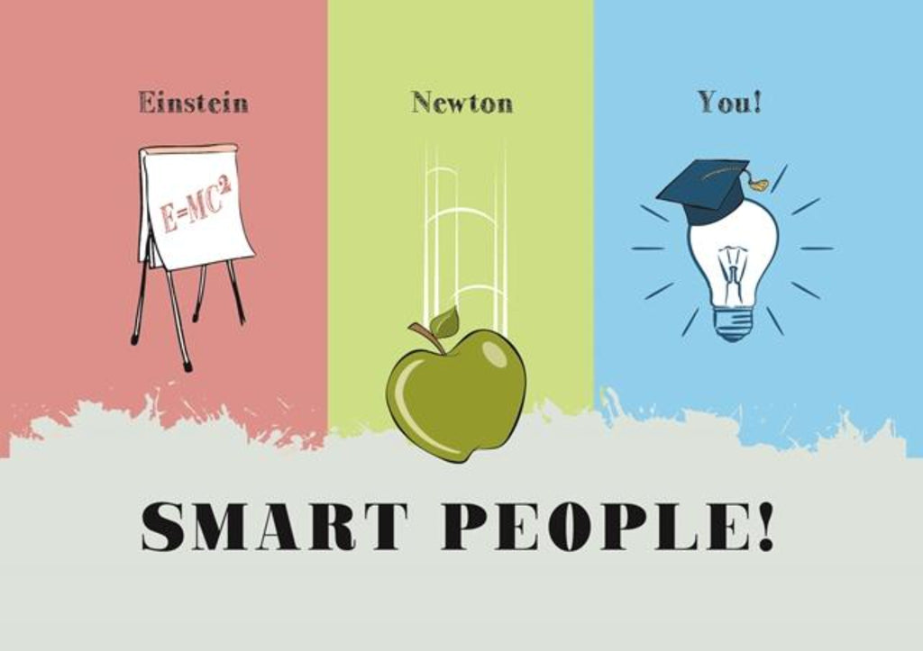 Smart People, Einstein, Newton, You! - Graduation Card - CardCraft