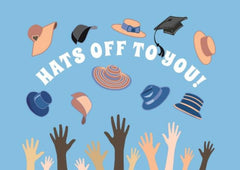 Hats Off To You! Graduation Congratulations Greeting Card - CardCraft
