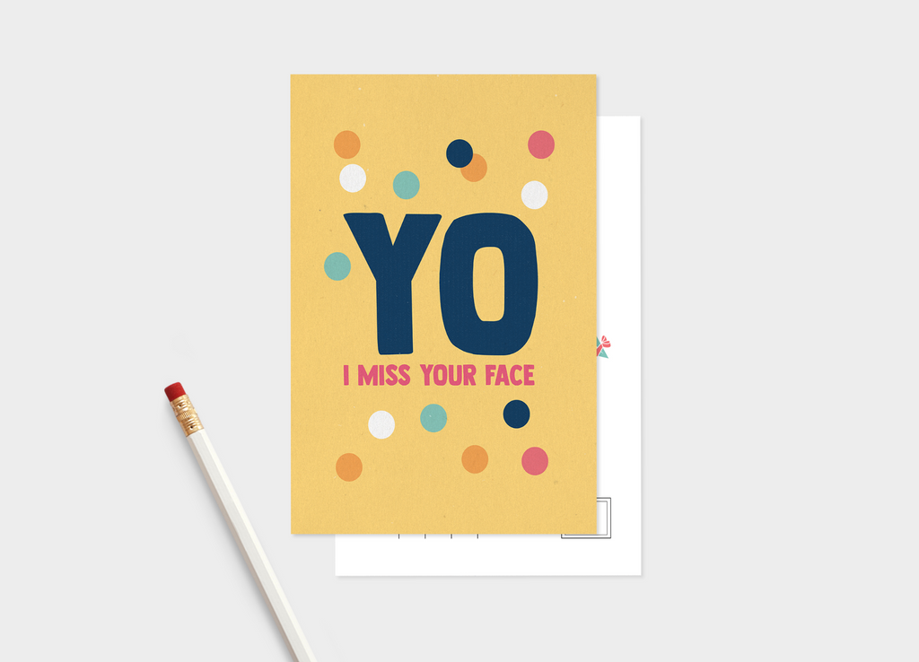 Yo I Miss Your Face Postcard Pack - Pack of 5 or 10