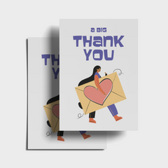 A Big Thank You Postcard Bundle - Pack of 5 or 10 Postcards