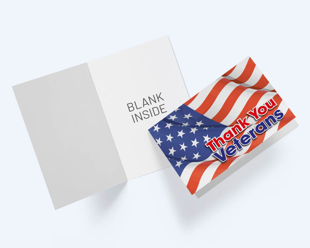 Thank You Veterans Greeting Card, Thank You Veterans Notecards - CardCraft