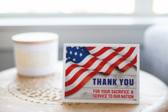 Thank You For Your Service Greeting Card, Thank You Notecard - CardCraft