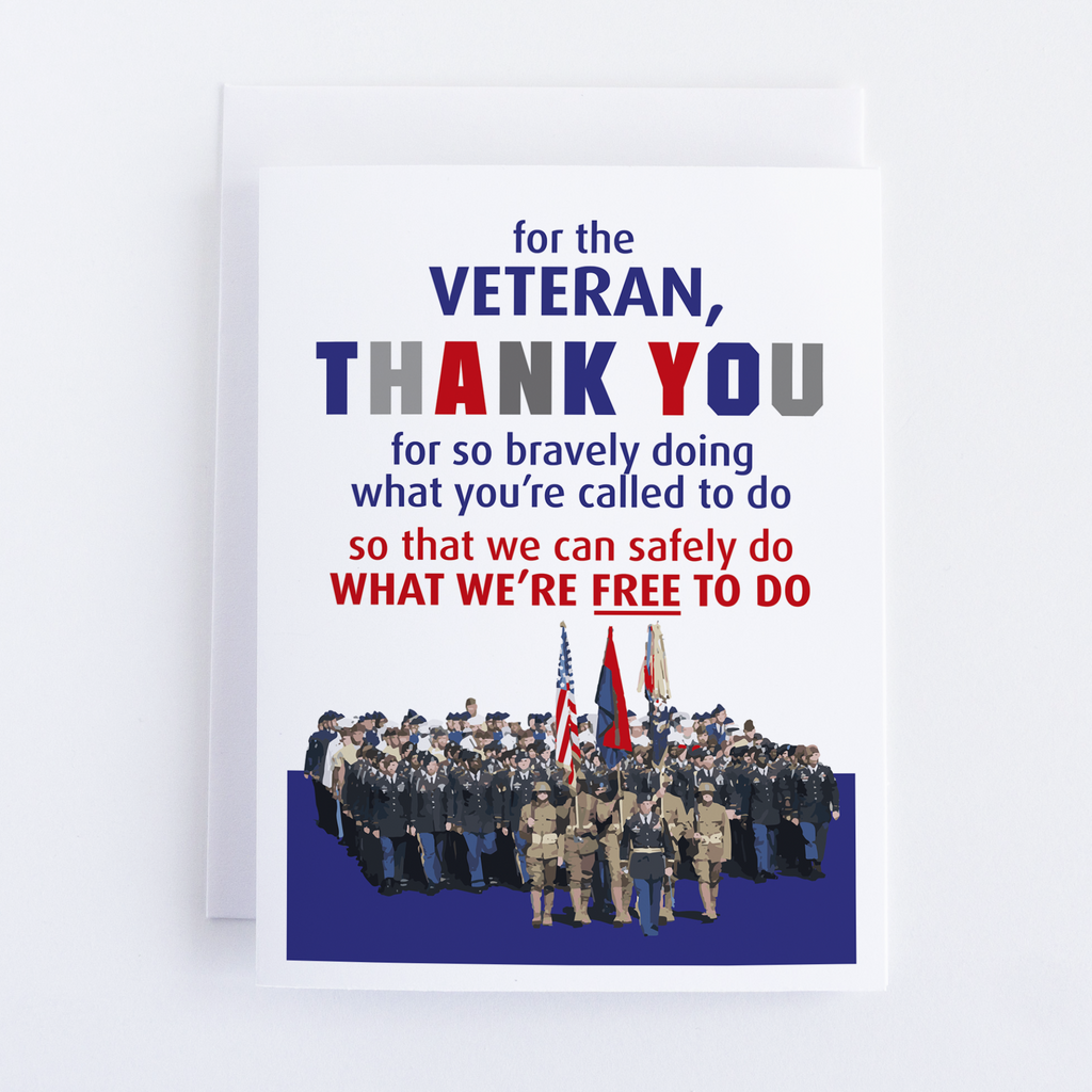 Veteran Thank You For Your Bravery Greeting Card - CardCraft