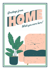 Greetings From Home - Thinking Of You Greeting Card - CardCraft