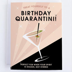 Birthday Quarantini - Birthday Greeting Card For Everyone - CardCraft