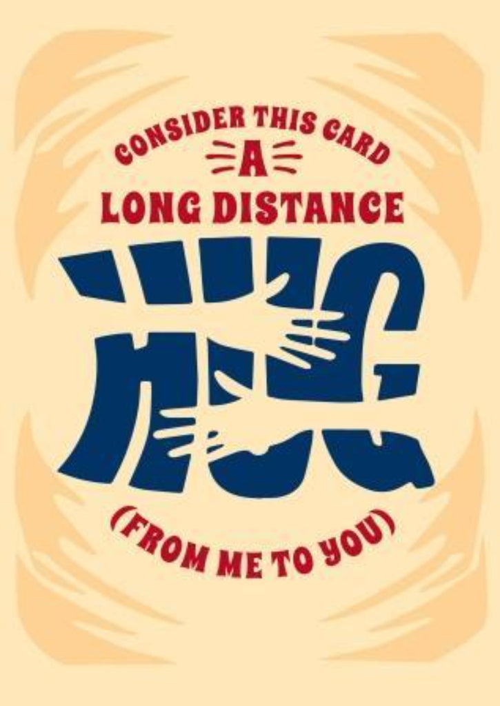 Consider This A Long Distance Hug - Thinking Of You Greeting Card - CardCraft