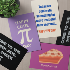 Pi Day Or Pie Day: Postcard Bundle; Pack Of 5 Or 10 Postcards