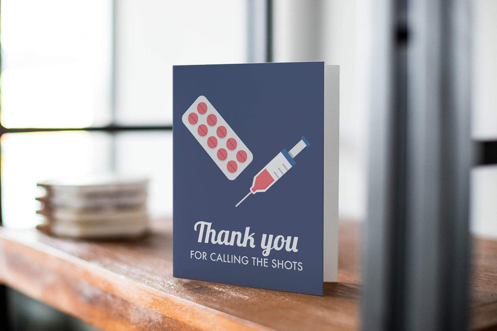 Calling the Shots -  Thank You Greeting Card For Healthcare Worker - CardCraft