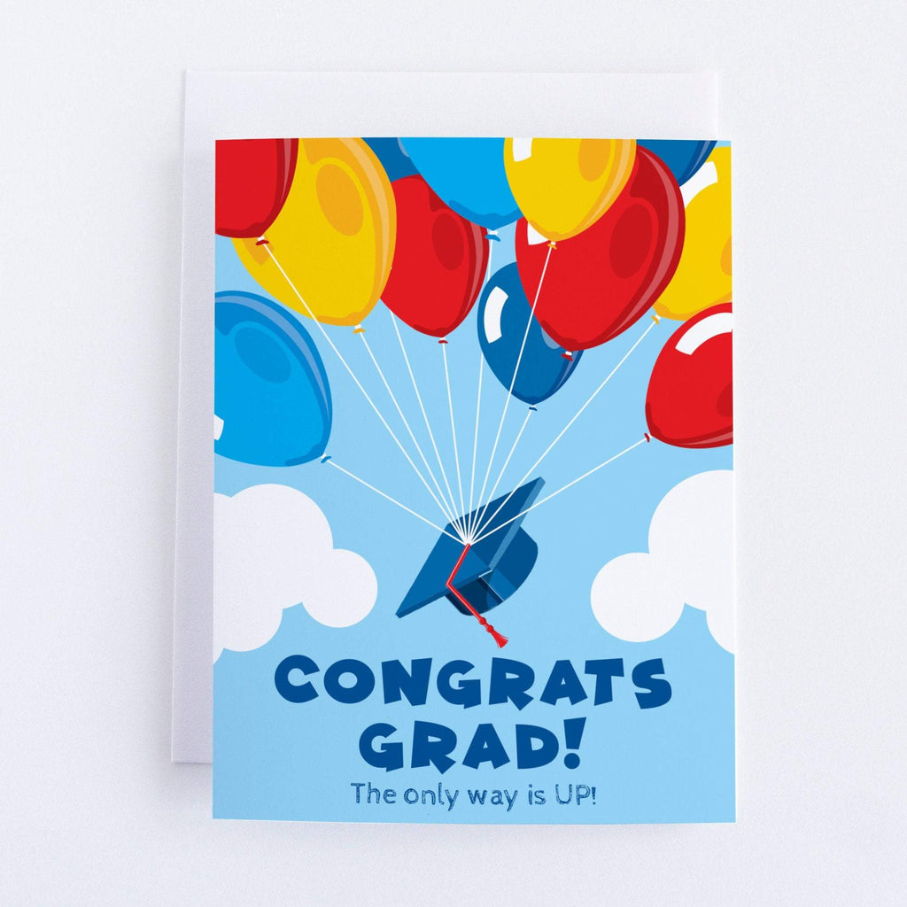 Congrats Grad! The Only Way Is Up - Graduation Greeting Card - CardCraft