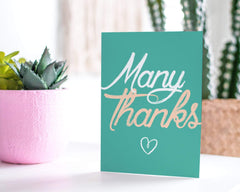Many Thanks - Thank You Greeting Card - CardCraft