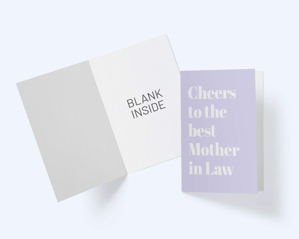 Cheers To The Best Mother In Law - Thinking Of You Greeting Card - CardCraft