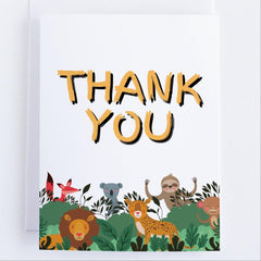 A Jungle of Thanks -Thank You Greeting Card - CardCraft
