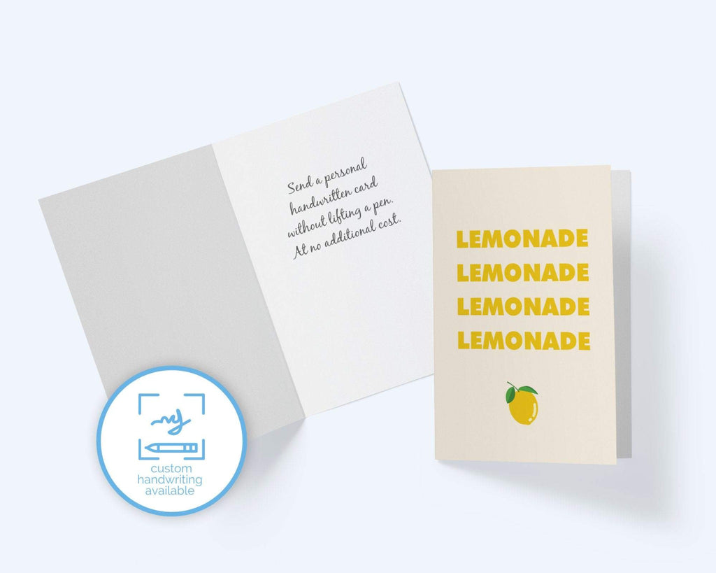 Beyonce Cards: Lemonade - Thinking Of You Greeting Card - CardCraft
