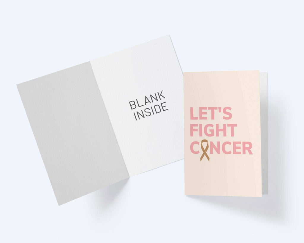 Let's Fight Cancer - Cancer Awareness Greeting Card -Thinking Of You - Encouragement Card - CardCraft