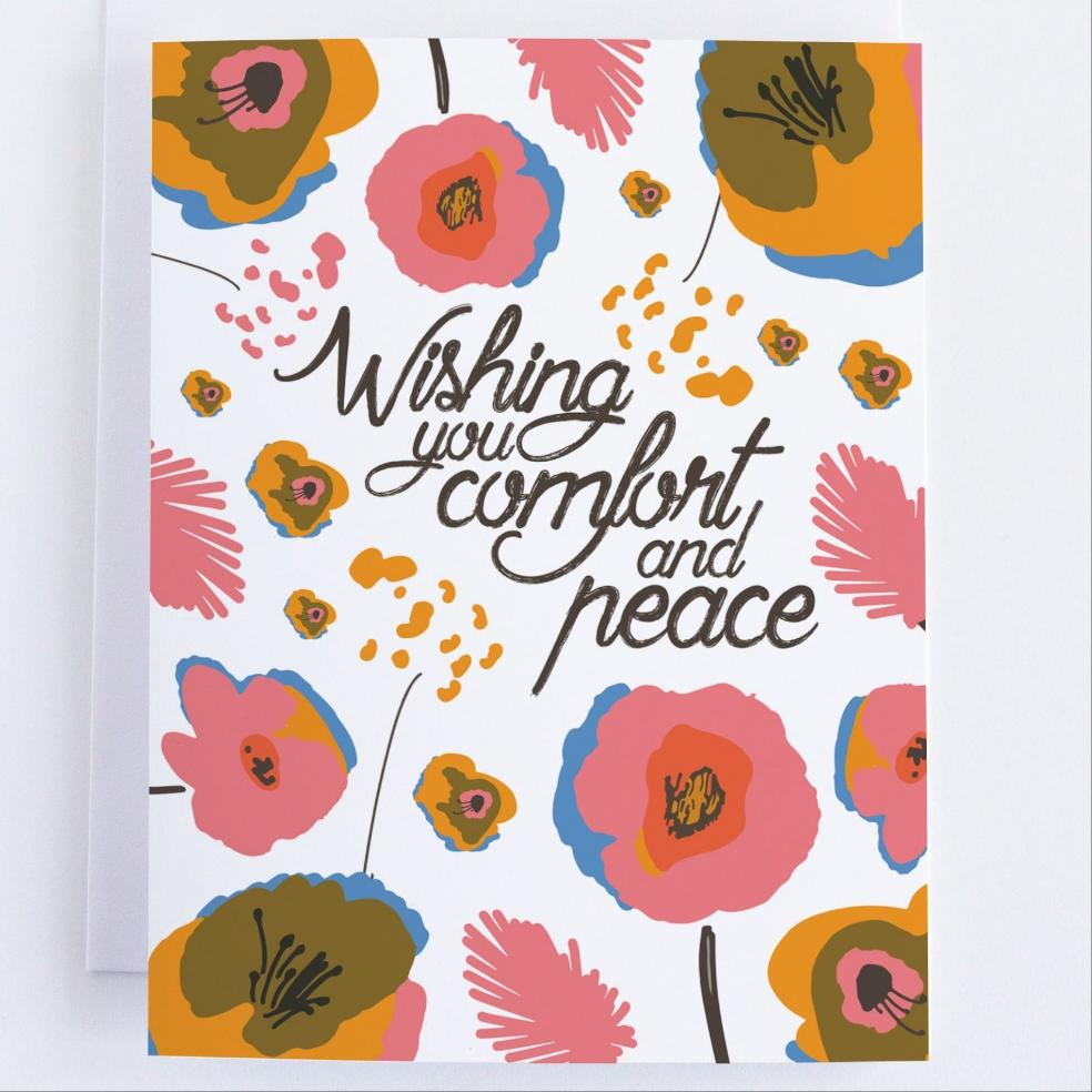 Wishing You Comfort and Peace - CardCraft