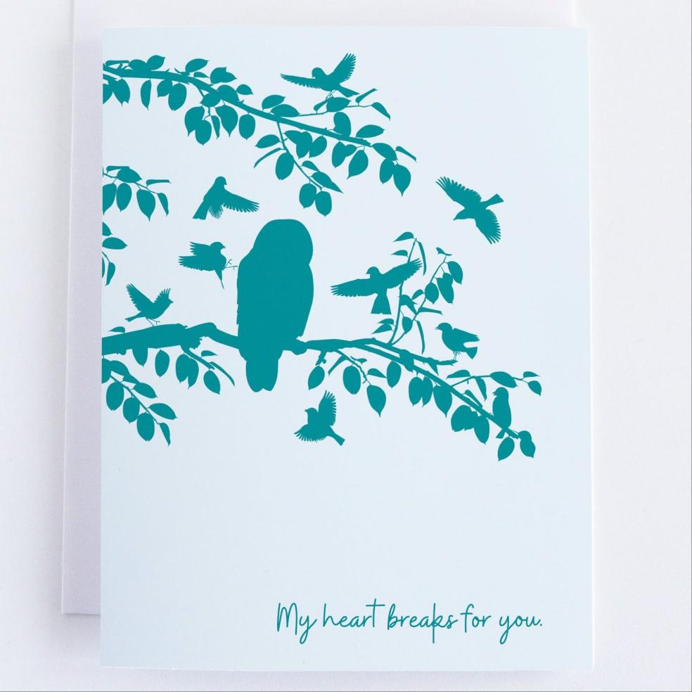 My Heart Breaks For You - Sympathy Greeting Card - CardCraft