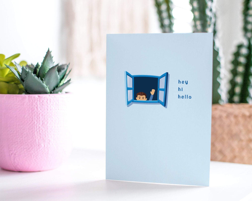 Hey Hi Hello - Thinking Of You Greeting Card - CardCraft