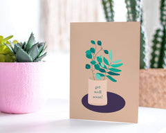 Get Well Soon! Greeting Card, Succulent Note Card - CardCraft