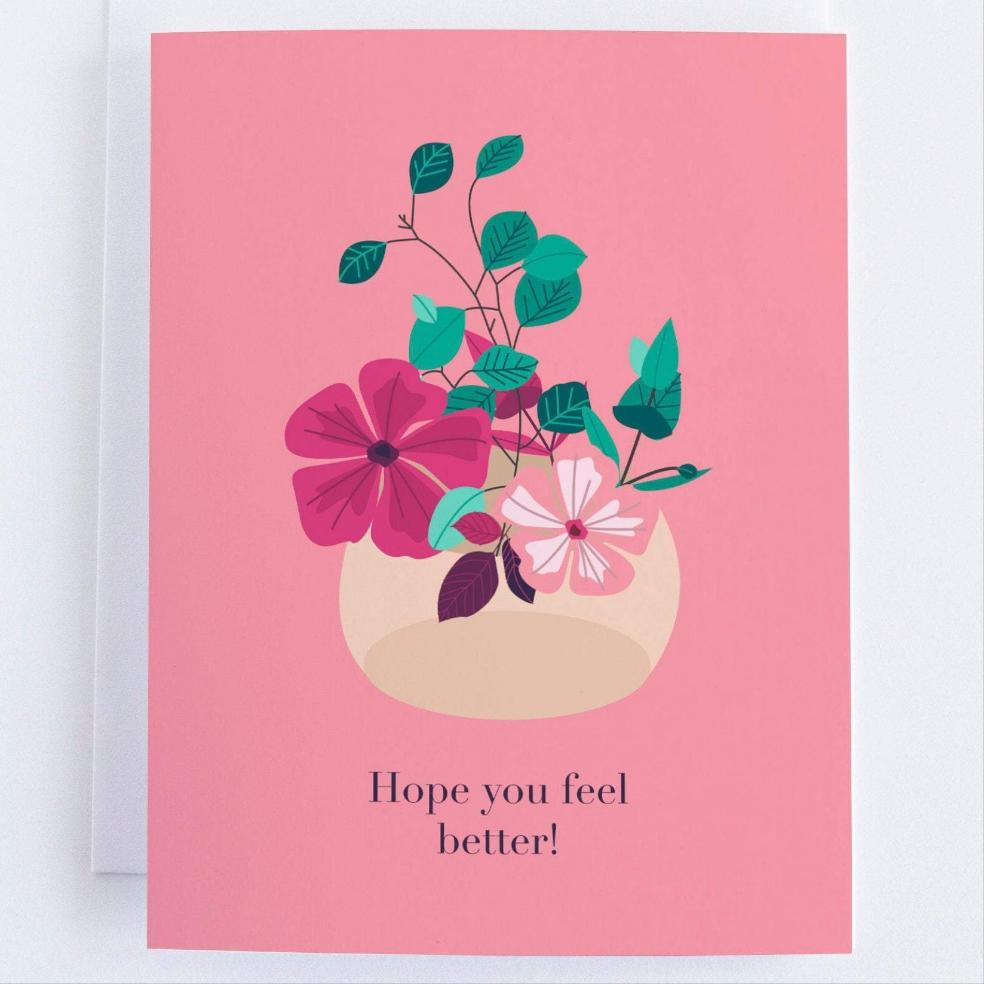 Feel Better Greeting Card - Get Well Soon Greeting Card - CardCraft