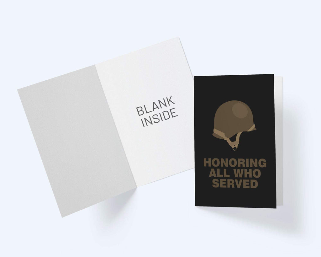 Honoring All Who Served - Veteran Greeting Card - CardCraft