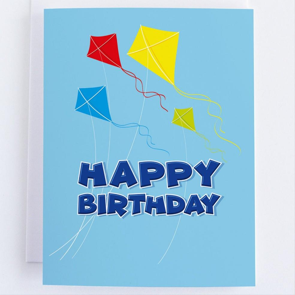 Kite Birthday Celebration - Kids Birthday Greeting Card - CardCraft