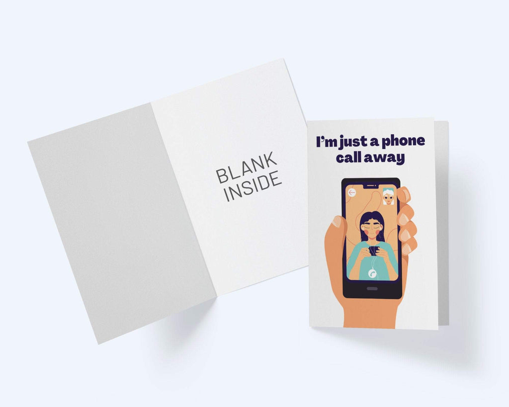 I'm Just A Phone Call Away - Thinking Of You Greeting Card - Sympathy Card - CardCraft