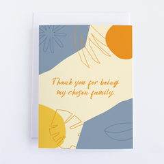 Thank You - Greeting Card For Being My Chosen Family - Chosen Family Note Card - CardCraft